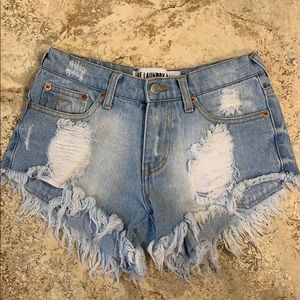 The Laundry Room distressed denim shorts size 24